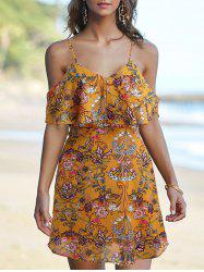 Spaghetti Strap Floral Printed Dress -