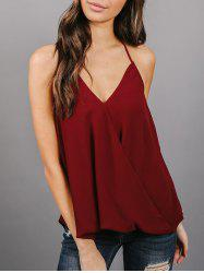 Backless Chiffon Wrap Top -