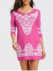 Ethnic Print Mini Bodycon Dress -