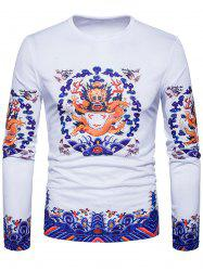 Long Sleeve Dragon Print T-shirt -