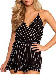 Spaghetti Strap Striped Romper -
