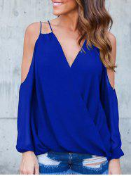 Straps V Neck Wrap Blouse -