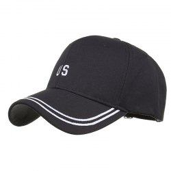 Casquette Baseball Réglable Motif US Brodé Style Simple -
