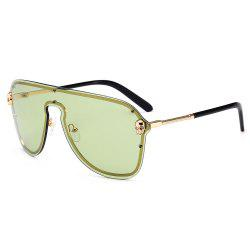 Metal Full Frame One Pieces Lens Sunglasse -