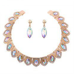 Rhinestone Vintage Torques and Earring Set -