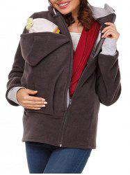 Zip Up Baby Carrier Hoodie -