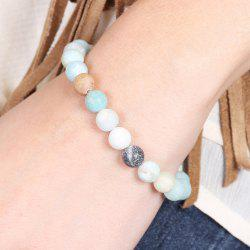 Bohemian Artificial Turquoise Beaded Bracelet -