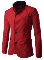 Casual Stand Collar Single Breasted Blazer -