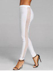 Side Fishnet Cross Pants -