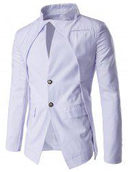 Slim Fit Single Breasted Blazer - Белый XL