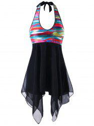Rainbow Handkerchief Tankini Set -