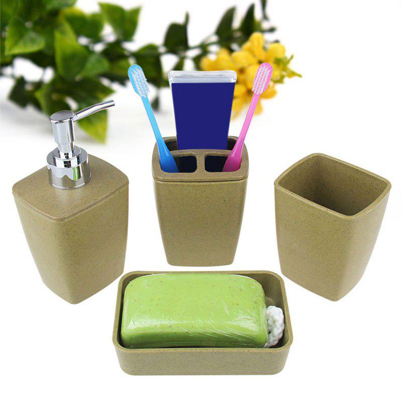 Cheap 4PCS Environmentally Friendly Fiber Bathroom Accessory Set
