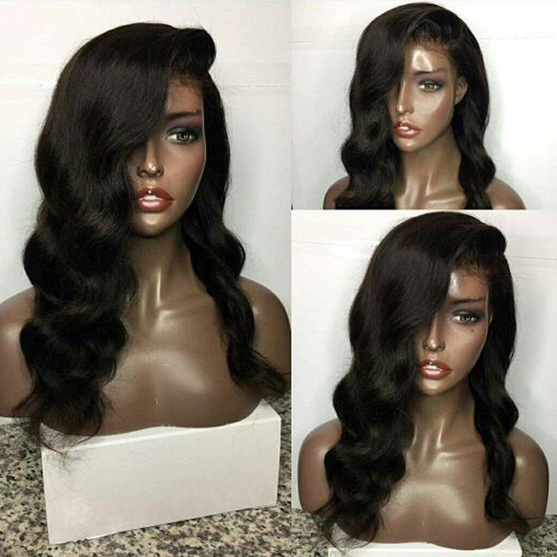 Latest Long Deep Side Parting Body Wave Human Hair Lace Front Wig