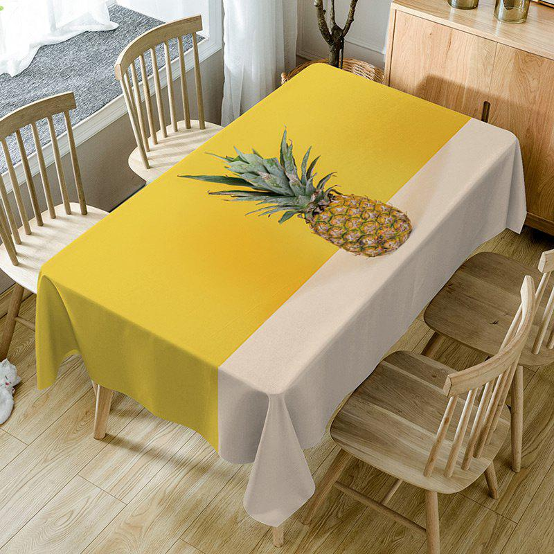 Sale Pineapple Print Fabric Waterproof Table Cloth