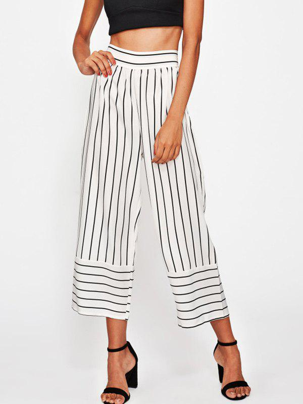 Discount High Waisted Striped Gaucho Pants