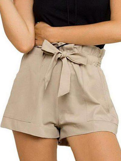 Hot Belted Ruffle Trim Shorts
