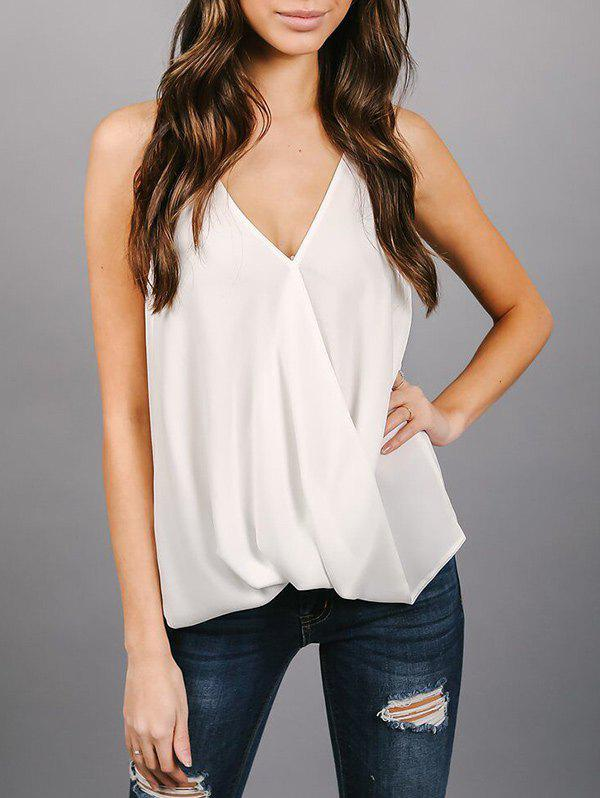 New Backless Chiffon Wrap Top