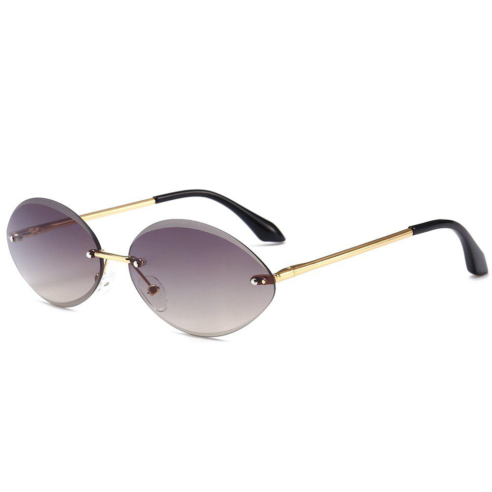 Fashion Vintage Oval Shaped Frameless Sunglasses