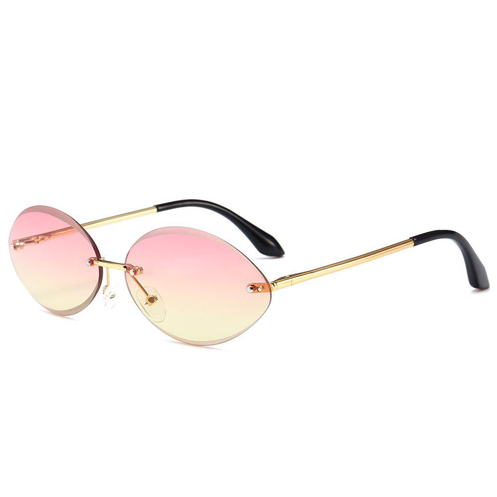 Shops Vintage Oval Shaped Frameless Sunglasses