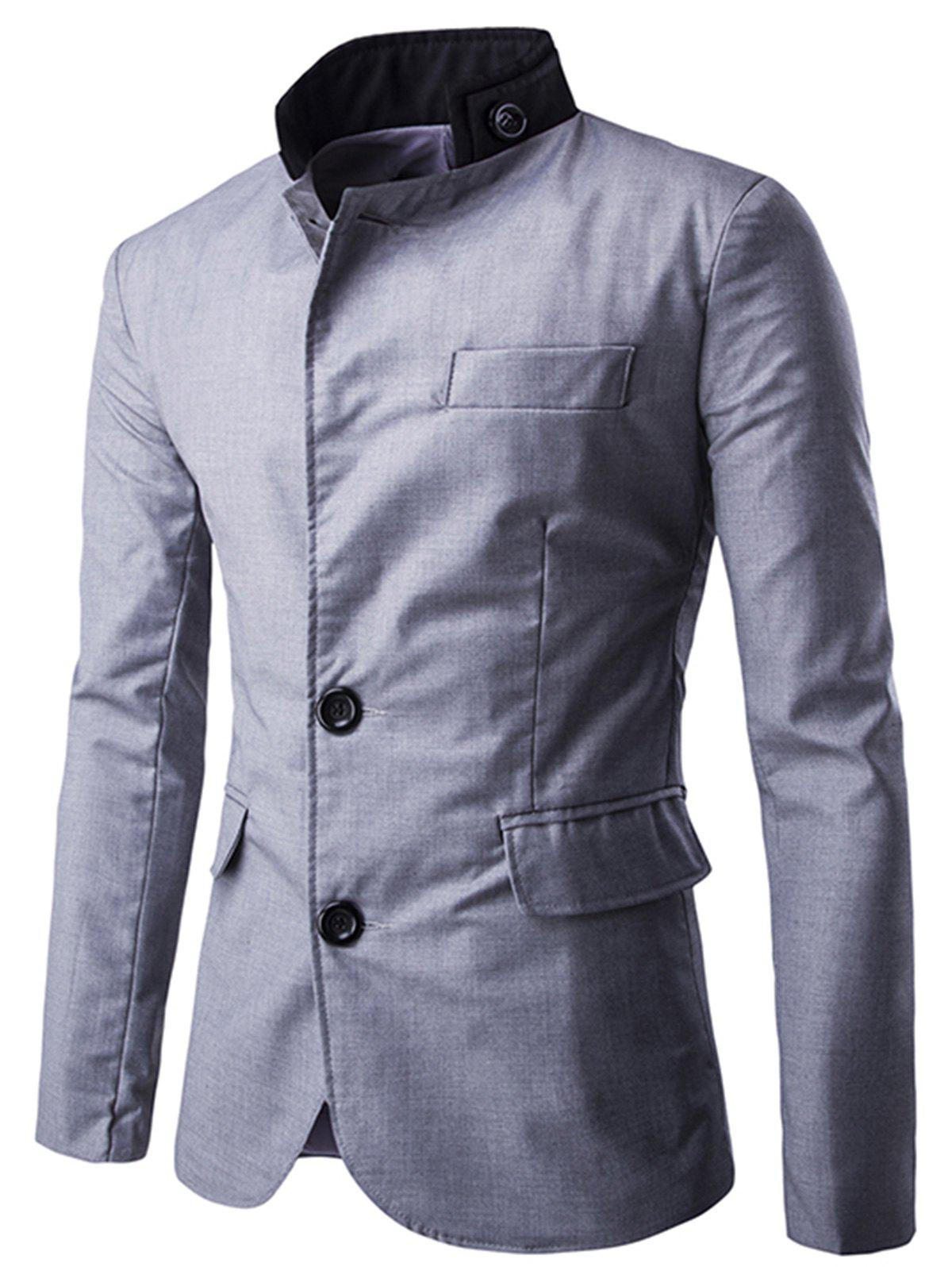 Fancy Casual Stand Collar Single Breasted Blazer