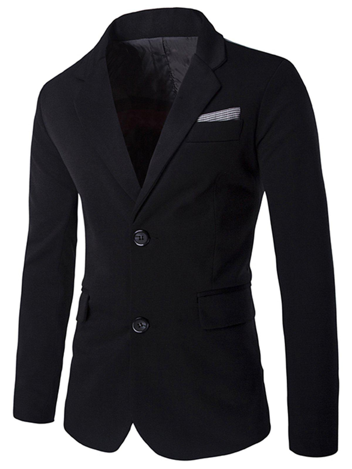 Cheap Color Block Single Breasted Blazer