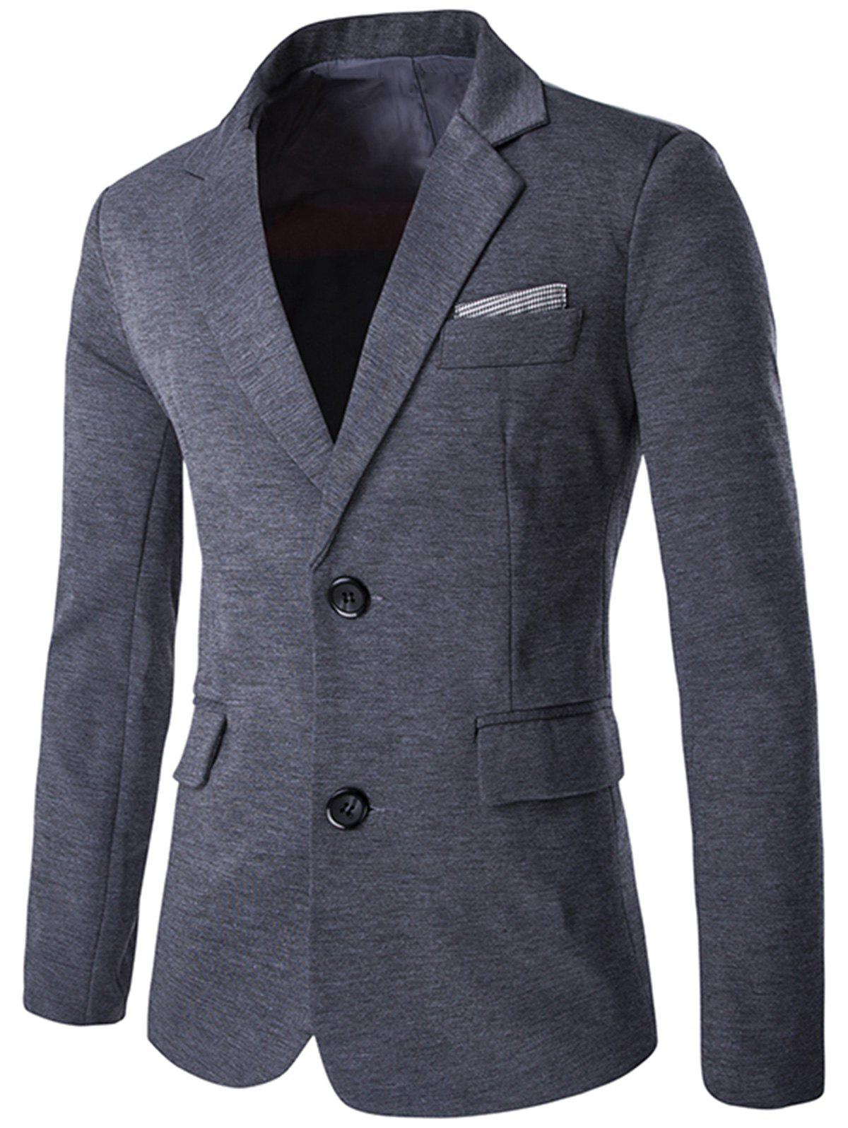 Discount Color Block Single Breasted Blazer