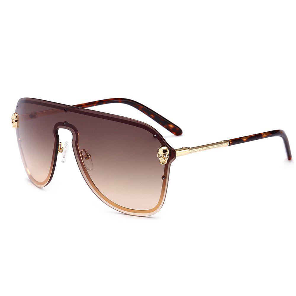 Discount Metal Full Frame One Pieces Lens Sunglasse