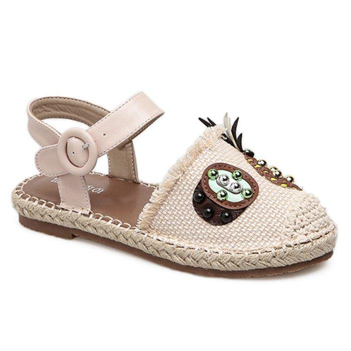 Chic Studs Pineapple Espadrille Flats