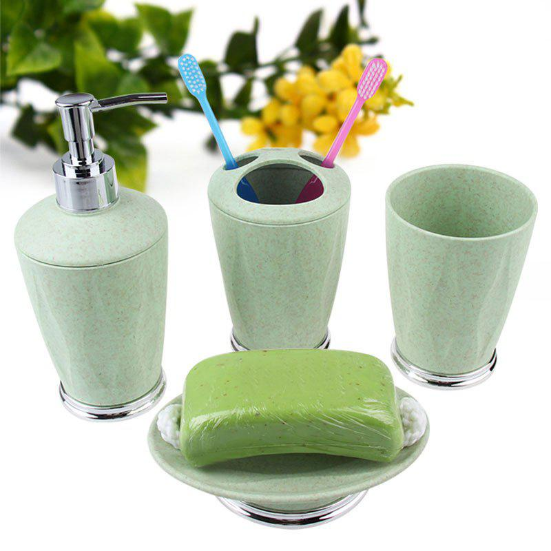 Outfits 4Pcs Soap Lotion Toothbrush Cup Bathroom Accessory Set