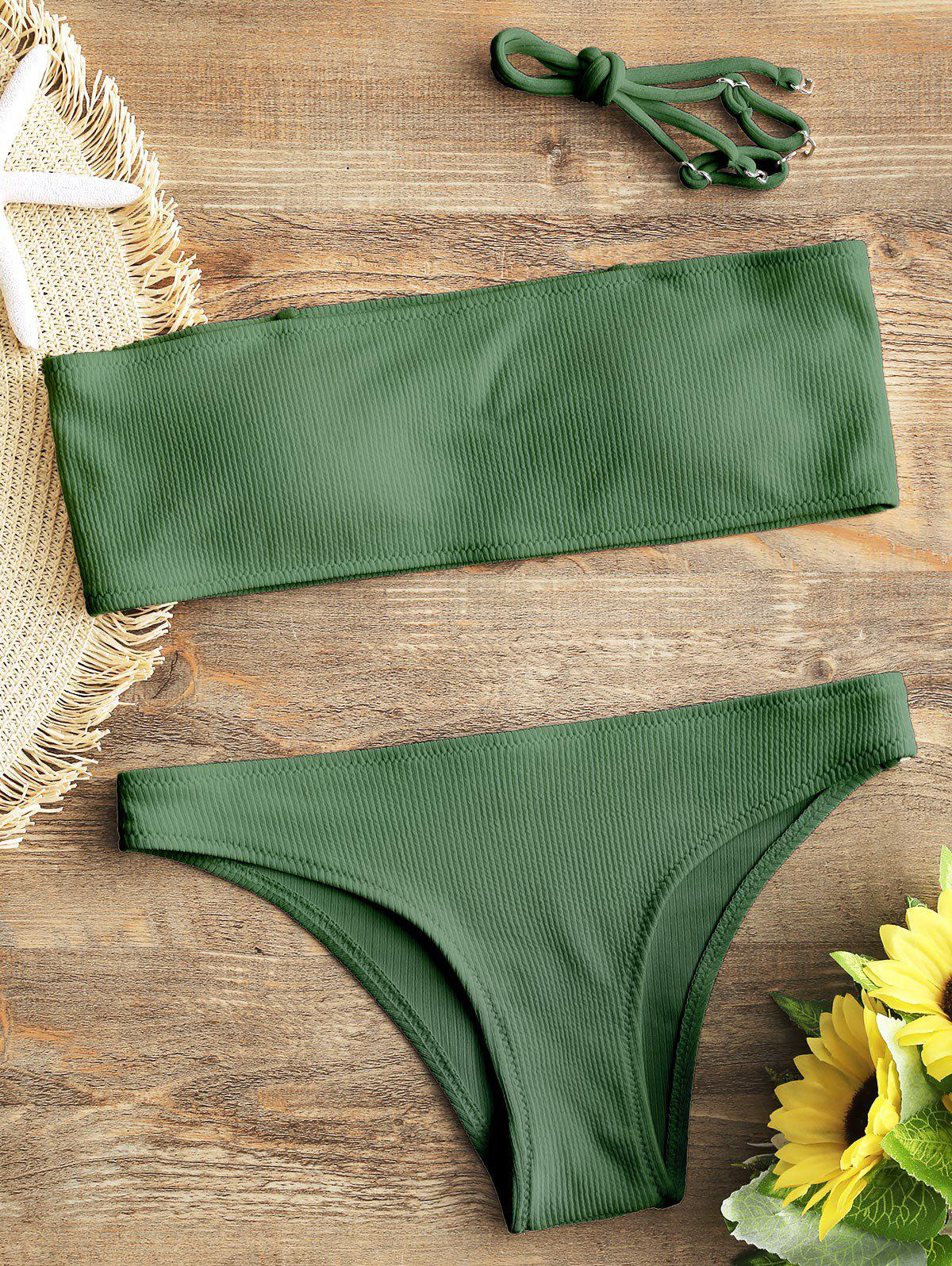New Bandeau Ribbed Bikini Set
