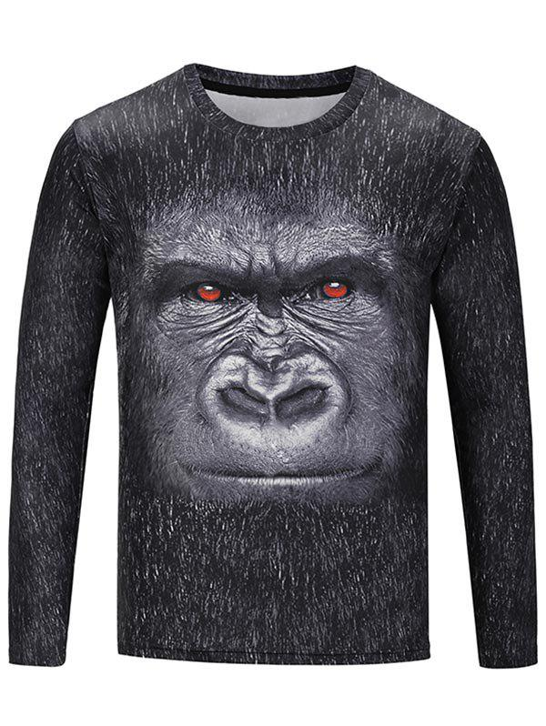 Latest Crew Neck Gorilla Print Tee