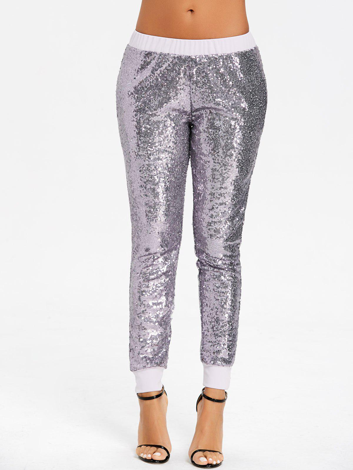 New Glitter Sparkle Sequins Joggers