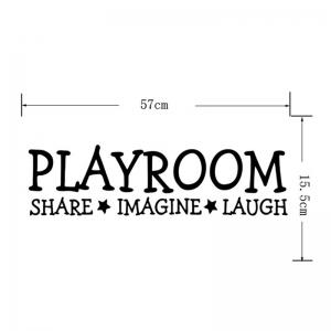 Playroom Share Imagine Laugh Pattern Letter Wall Sticker -