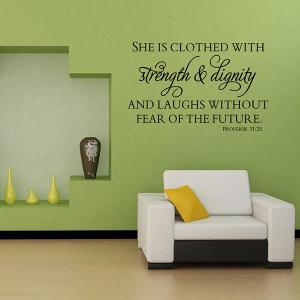 Proverbes Inspirational Patterned Wall Decal -
