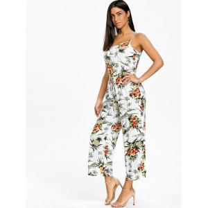Chiffon Pineapple Print Wide Leg Jumpsuit -