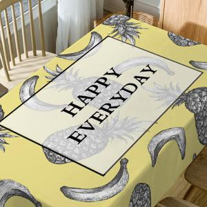 Happy Everyday Fruits Print Fabric Waterproof Table Cloth -
