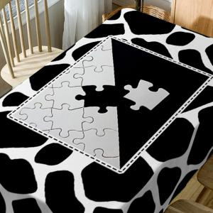 Jigsaw Print Fabric Waterproof Table Cloth -