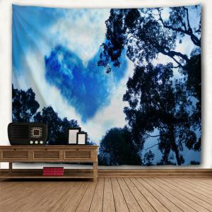 Cloud Heart Print Wall Art Tapestry -