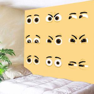 Vivid Expression Eyes Printed Wall Art Hanging Tapestry -