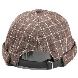 Vintage Checked Pattern Embellished Beret Hat -