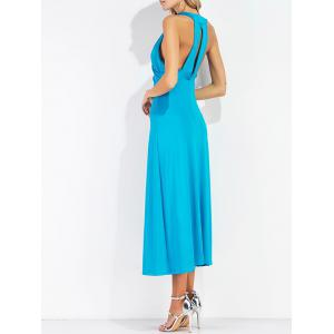 Retour Cut Out V Neck Mi-mollet Robe -