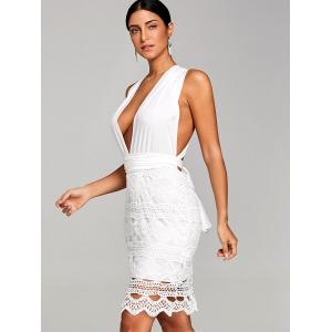 Robe club festonnée au crochet -