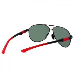 Metal Full Frame Crossbar Embellished Pilot Sunglasses -