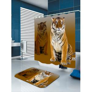 Tiger Printed Shower Curtain -