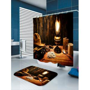 Cowboy Hat Lamp Printed Shower Curtain -