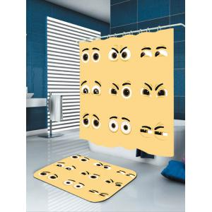 Vivid Expression Eyes Print Pattern Shower Curtain -