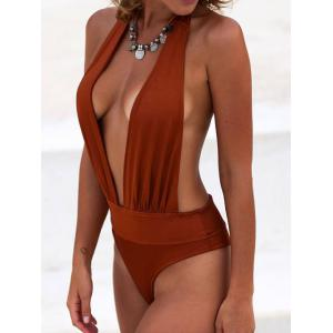 Plunging Neck Padded Swimsuit -