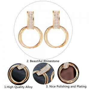 Circle Halo Stud Drop Earrings -