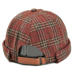 Retro Tartan Motif Magic Autocollant Chapeau Beret -