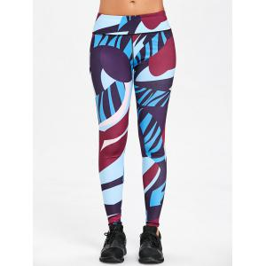 Color Block Skinny Workout Leggings -